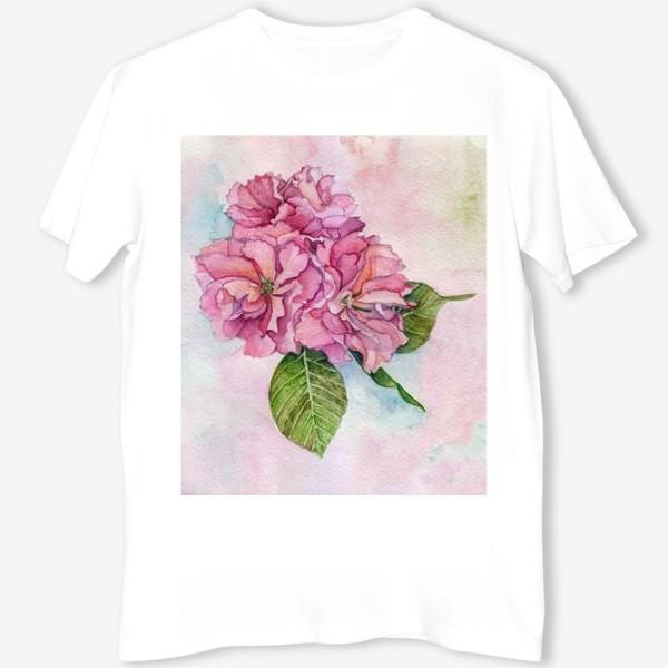 Футболка «Apple blossom watercolor pattern»