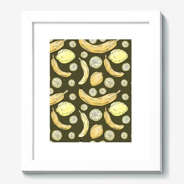 Картина «Летний паттерн с лимонами и бананами»
