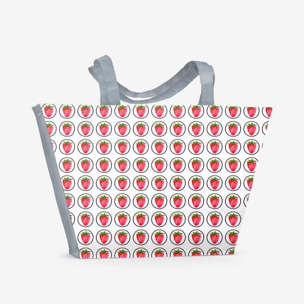 Пляжная сумка «Клубничка»