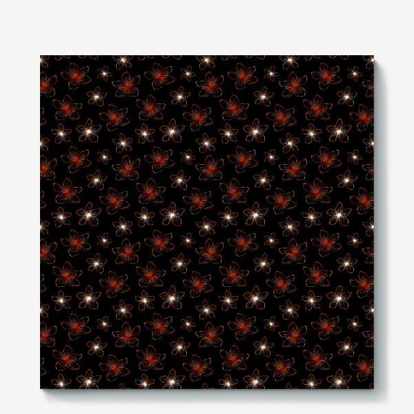 Холст «Изящные цветочки. Дизайнерский принт»