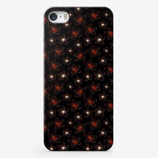Чехол iPhone «Изящные цветочки. Дизайнерский принт»