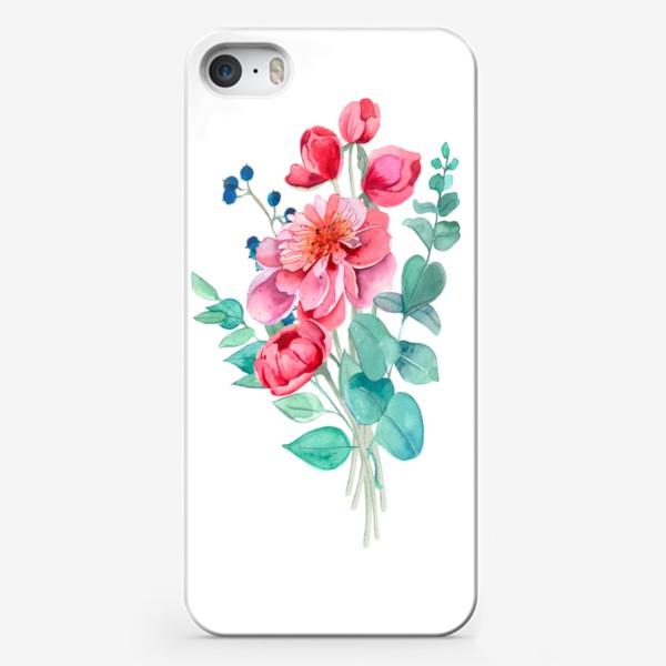 Чехол iPhone «Бует пионов»