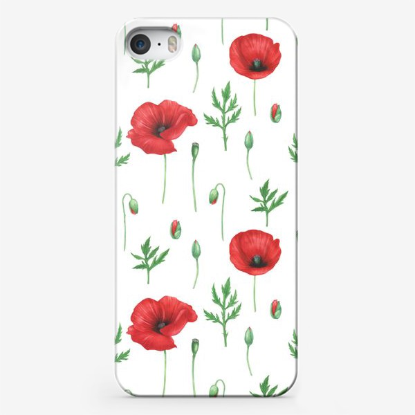 Чехол iPhone «Маки на белом фоне»
