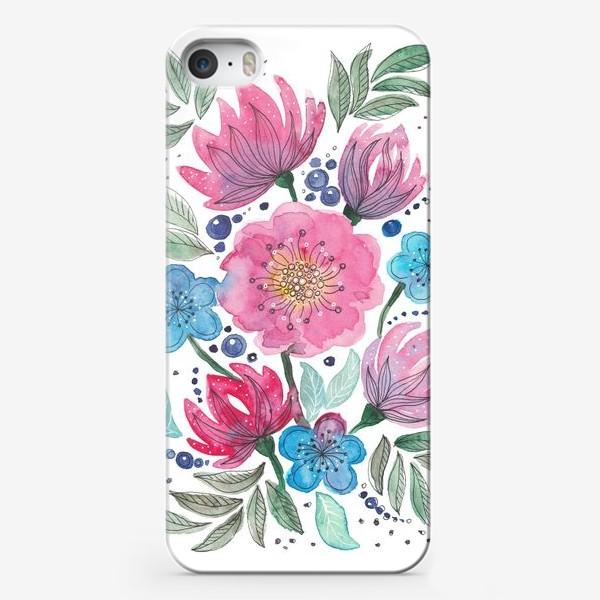 Чехол iPhone «Акварельные цветы»