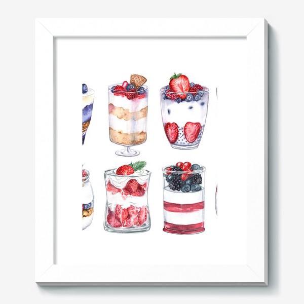 Картина «Десерты в стаканах»