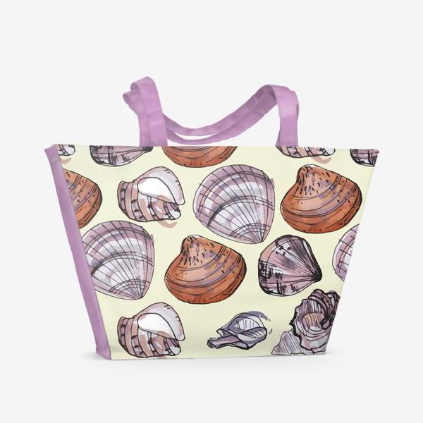 Пляжная сумка «Ракушки. Морская тема.»