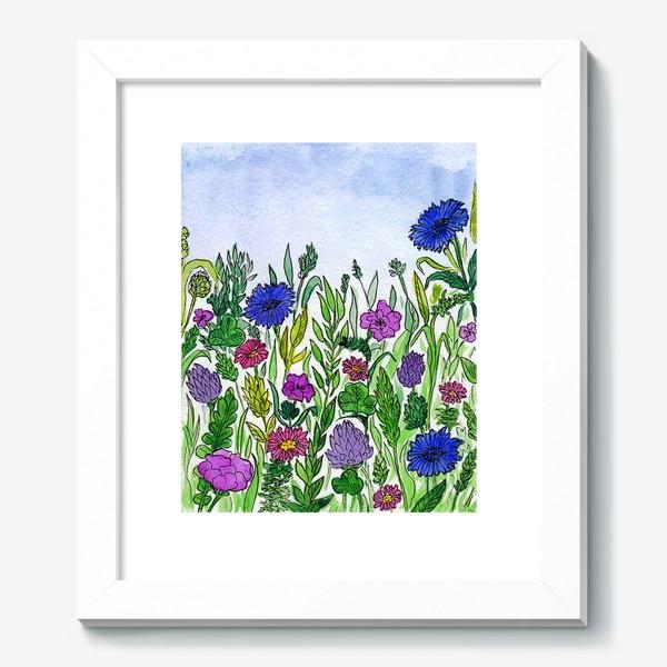 Картина «Полевые цветы. Василёк»