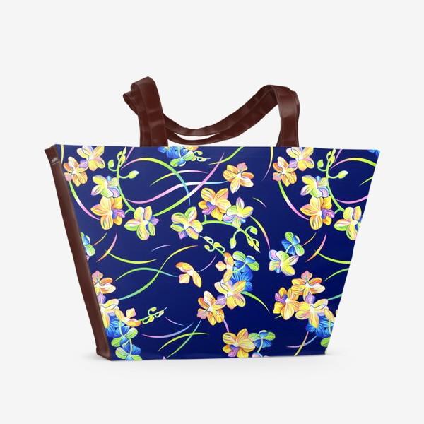 Пляжная сумка «Тропические орхидеи»