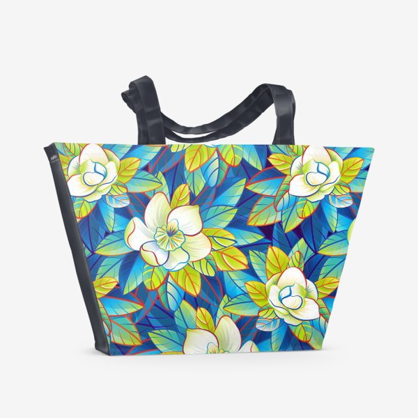 Пляжная сумка «Тропические магнолии»