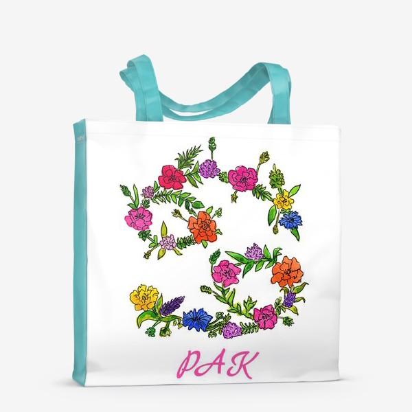Сумка-шоппер «Зодиак Рак. Цветы»