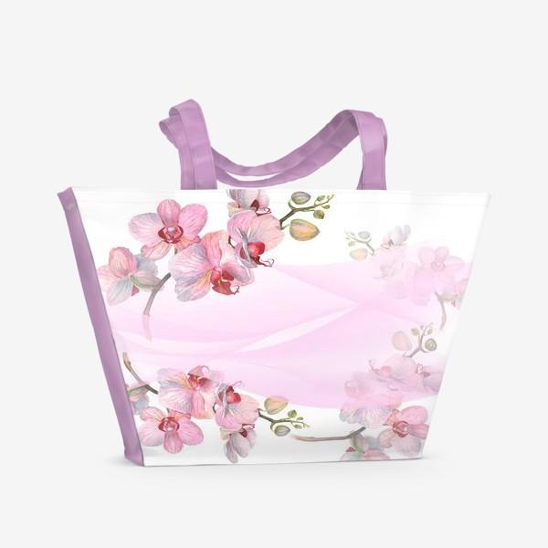Пляжная сумка «Орхидеи»
