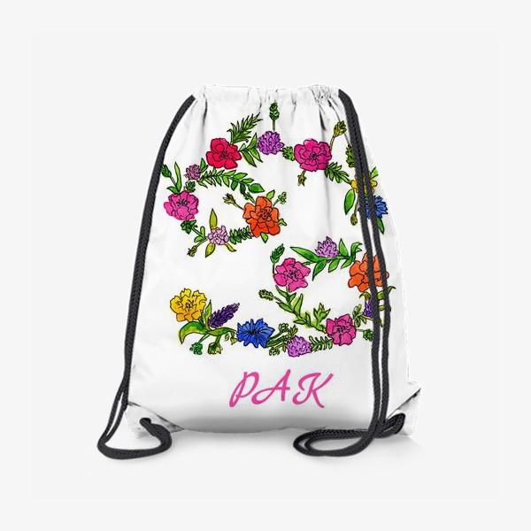 Рюкзак «Зодиак Рак. Цветы»