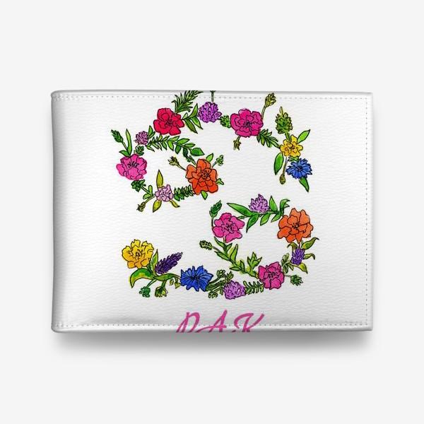 Кошелек «Зодиак Рак. Цветы»