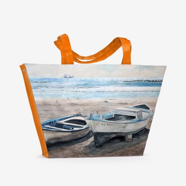 Пляжная сумка «Солнечные лодочки»