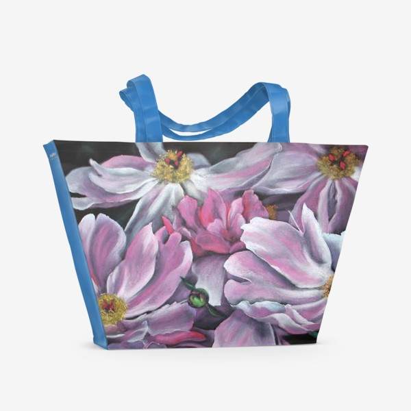 Пляжная сумка «Пионы Меланхолия»