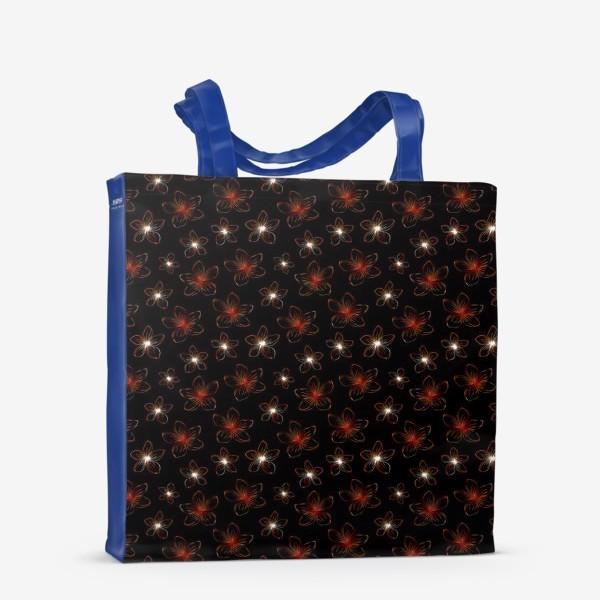 Сумка-шоппер «Изящные цветочки. Дизайнерский принт»