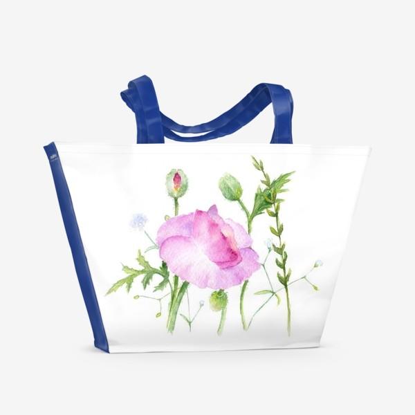 Пляжная сумка «Летние цветы»