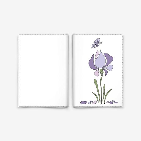 Обложка для паспорта «Стилизованный цветок»