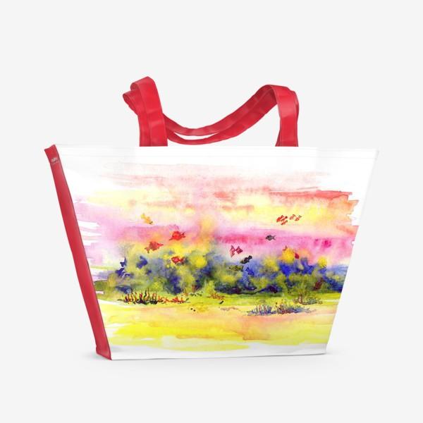 Пляжная сумка «Коралловые рыбки»
