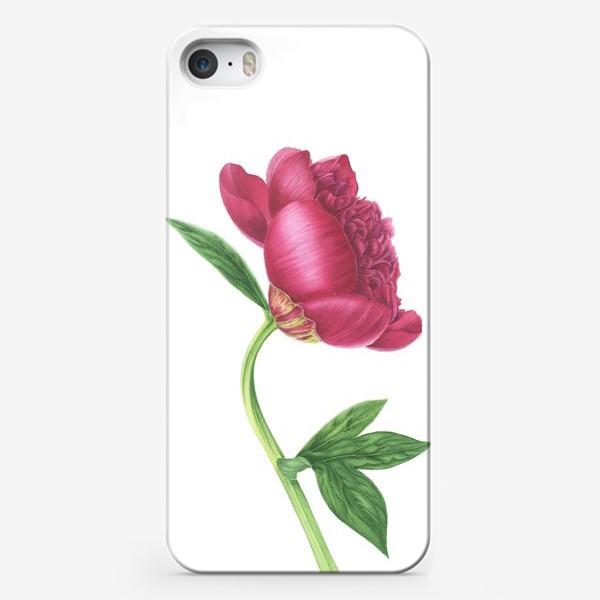 Чехол iPhone «Красный пион»