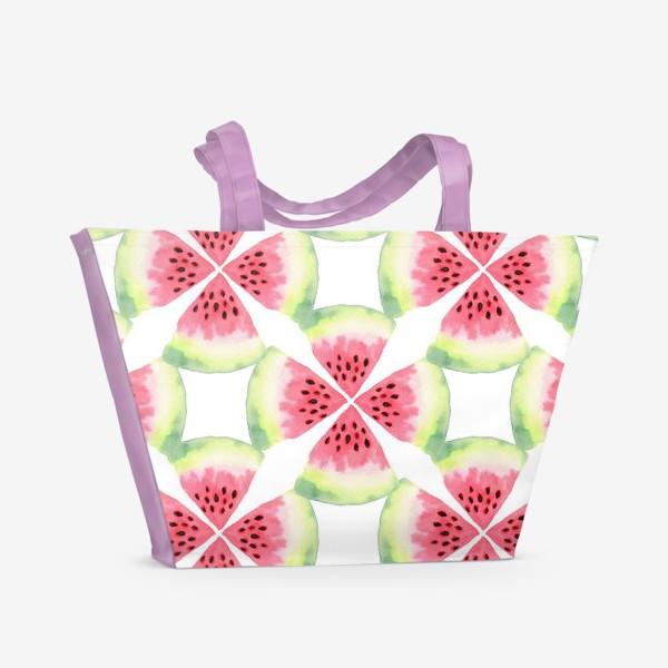 Пляжная сумка «Арбузный орнамент»