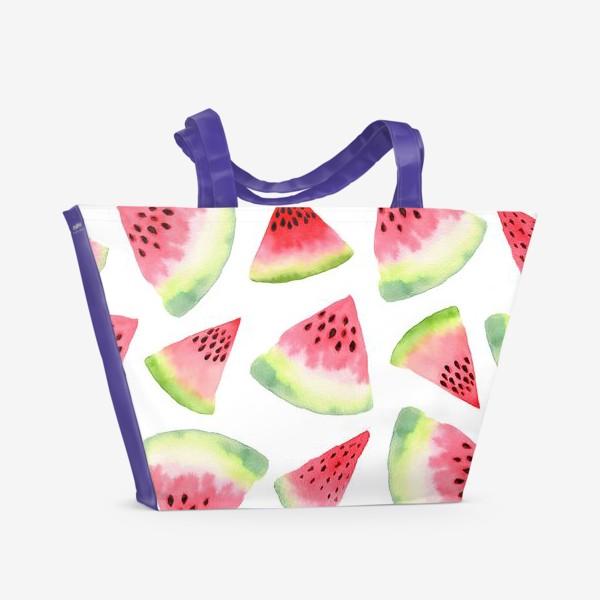 Пляжная сумка «Летние арбузы»