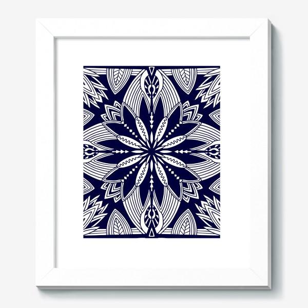 Картина «Орнамент с абстрактными листьями. Квадратный узор. Мандала»
