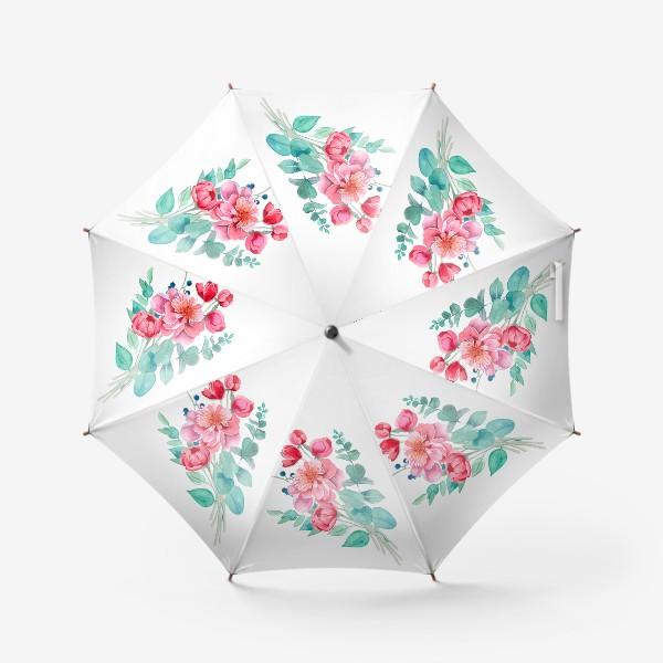 Зонт «Бует пионов»