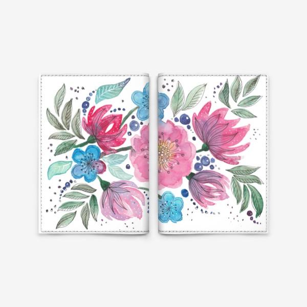 Обложка для паспорта «Акварельные цветы»