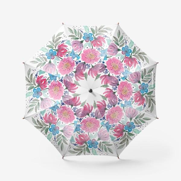 Зонт «Акварельные цветы»