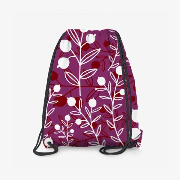 Рюкзак «Растительный узор с ягодами»