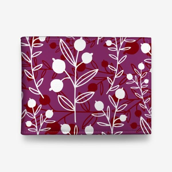 Кошелек «Растительный узор с ягодами»