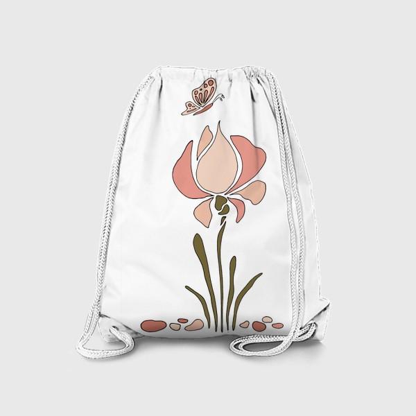 Рюкзак «Нежный цветок. Ирис.»