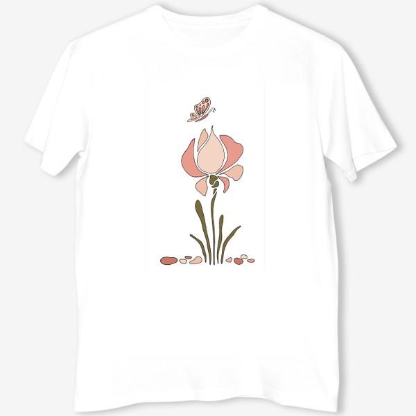 Футболка «Нежный цветок. Ирис.»