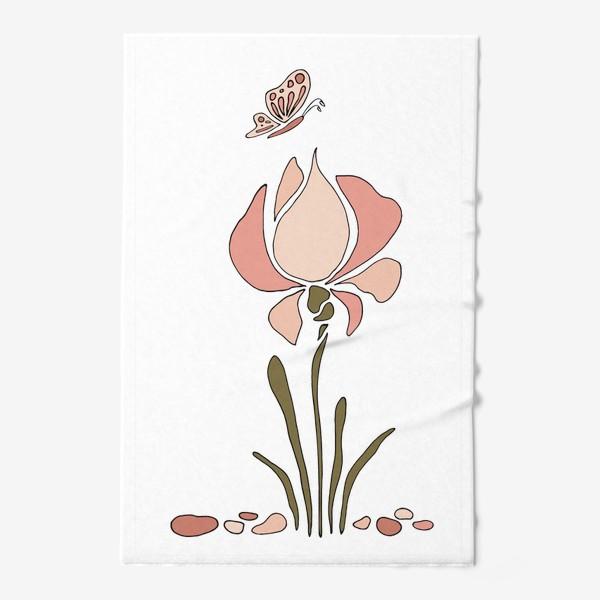 Полотенце «Нежный цветок. Ирис.»