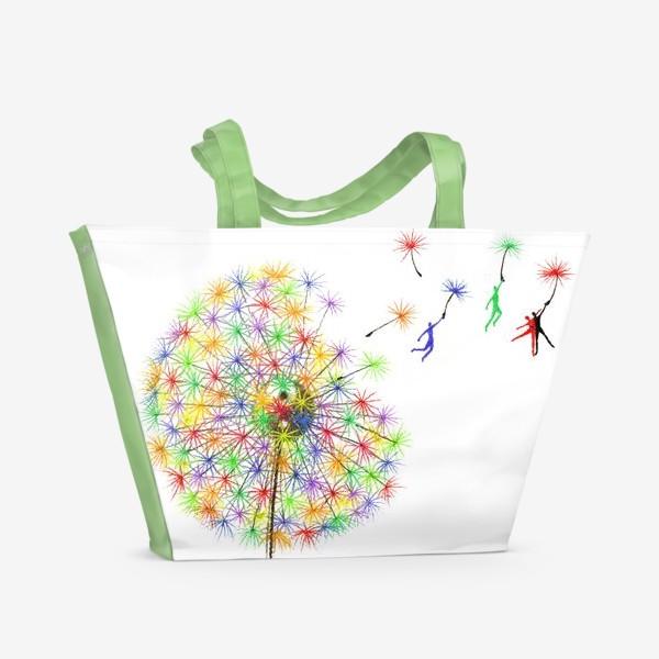 Пляжная сумка «Радужный одуванчик»