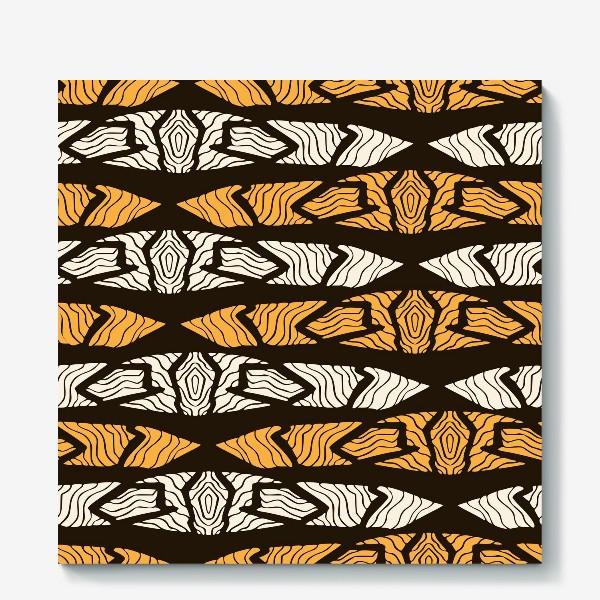 Холст «Тигровый геометрический узор»