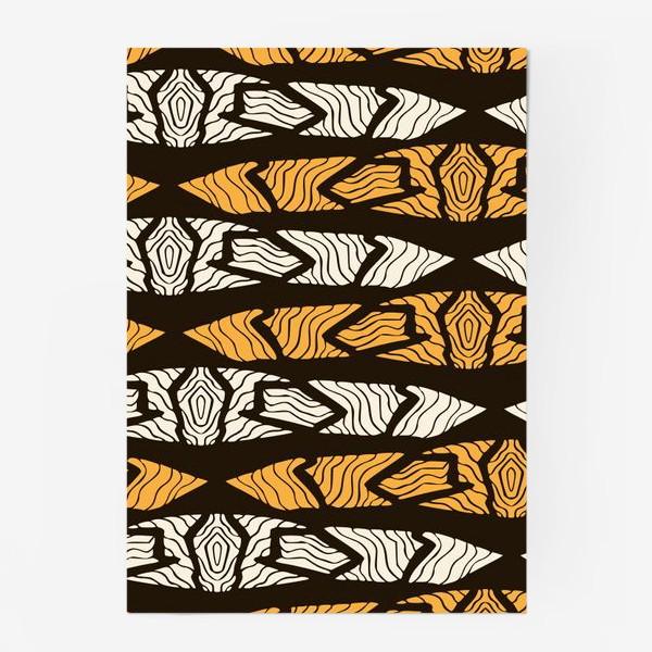 Постер «Тигровый геометрический узор»