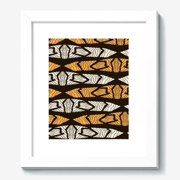 Картина «Тигровый геометрический узор»
