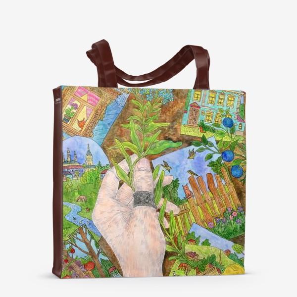 Сумка-шоппер «Лето в деревне»