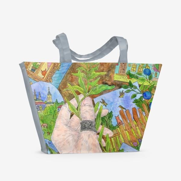 Пляжная сумка «Лето в деревне»