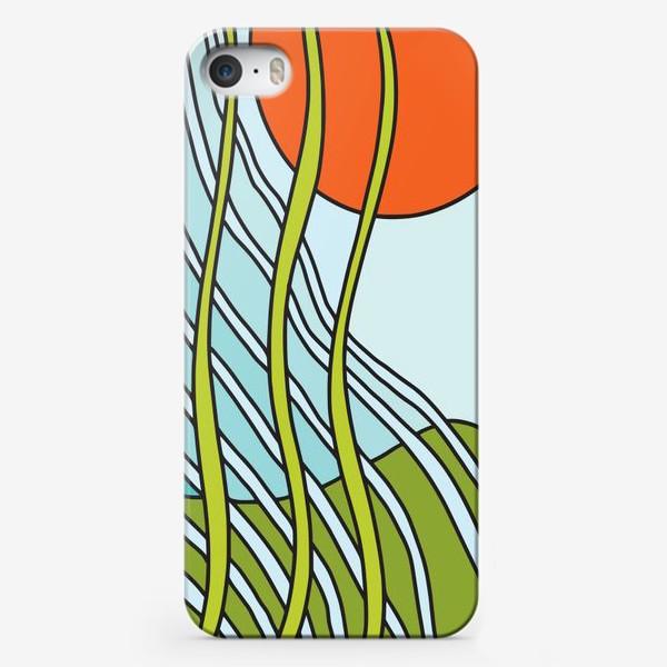 Чехол iPhone «Восходящее солнце. Вечный рост. Абстракция »