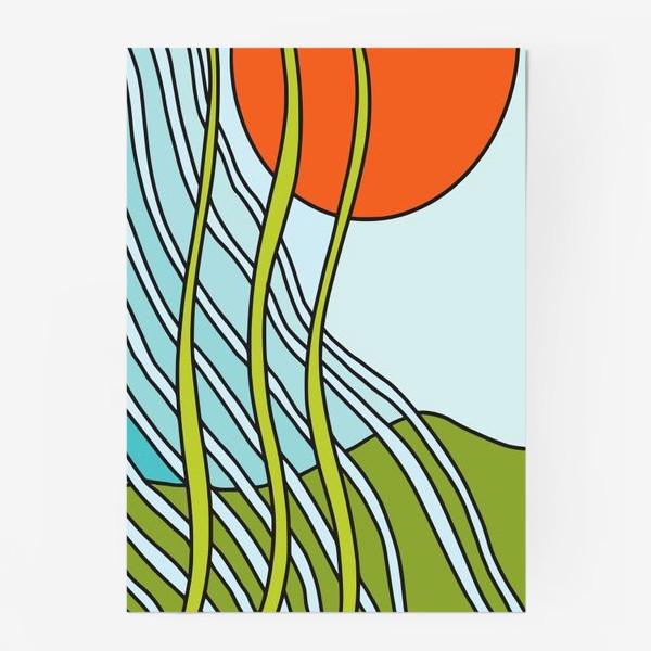 Постер «Восходящее солнце. Вечный рост. Абстракция »