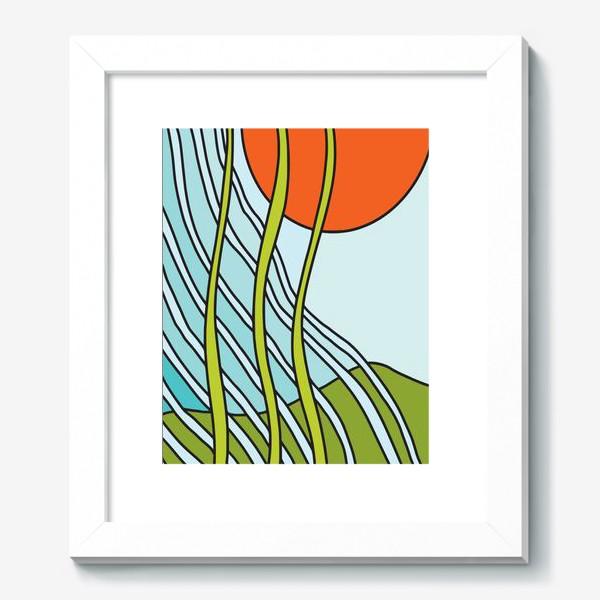 Картина «Восходящее солнце. Вечный рост. Абстракция »