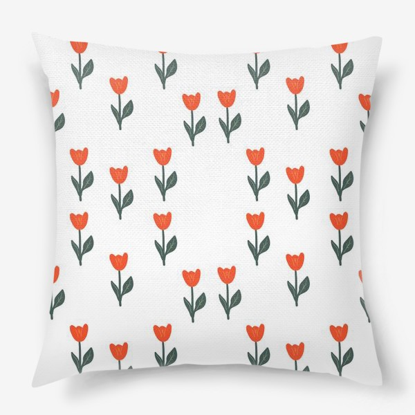 Подушка «Скандинавский принт. Тюльпаны»