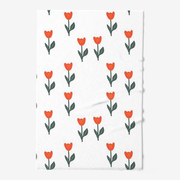 Полотенце «Скандинавский принт. Тюльпаны»