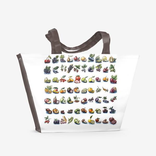 Пляжная сумка «фруктовый алфавит»