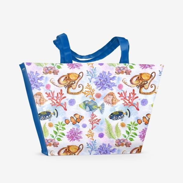 Пляжная сумка «Морское царство.»