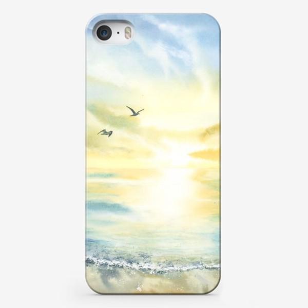 Чехол iPhone «Побережье моря, чайки»