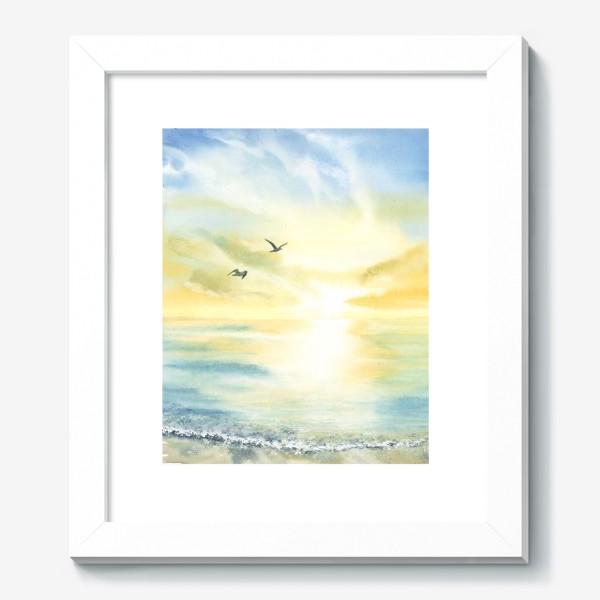 Картина «Побережье моря, чайки»
